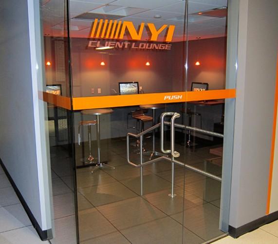 new york internet company client lounge server level