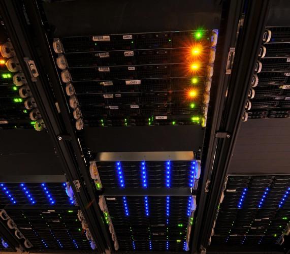new york internet company server wall