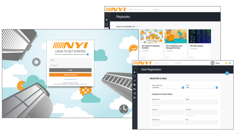Screenshots of NYI Partner Portal